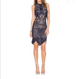 Bardot Divinity Dress in Ink
